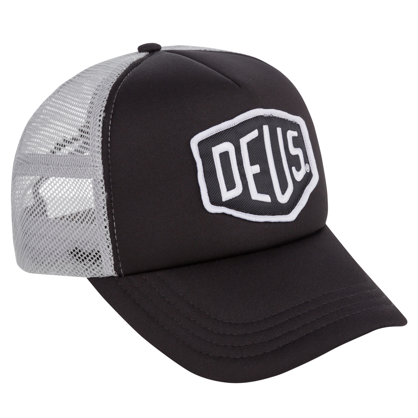 Deus Ex Machina Black/Grey Baylands Trucker Cap - Size One Size