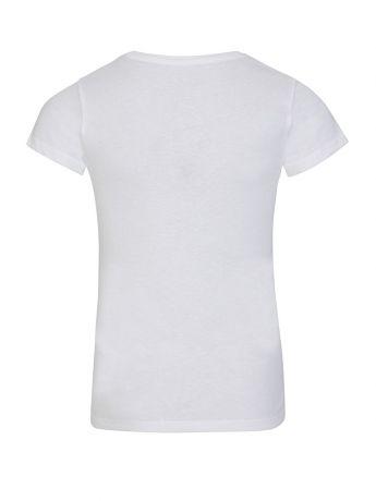 GUESS Kids White Triangle Glitter Logo T-Shirt