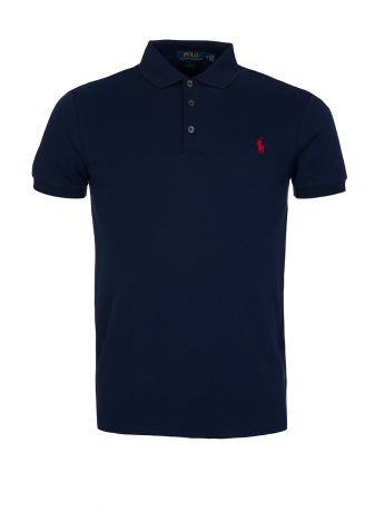 Polo Ralph Lauren Navy Slim Fit Stretch Mesh Polo
