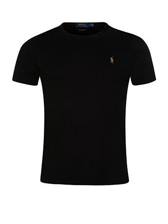 Polo Ralph Lauren Black Custom Slim Fit Interlock Tee