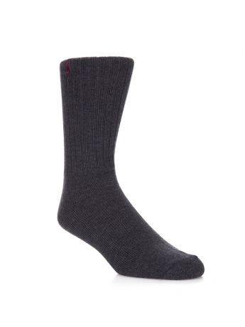 Polo Ralph Lauren Charcoal Polo Player Ribbed Socks