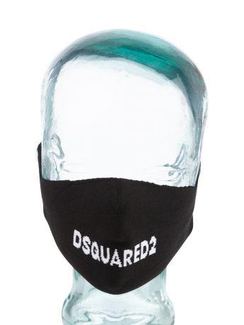 Dsquared2 Black Logo Face Mask