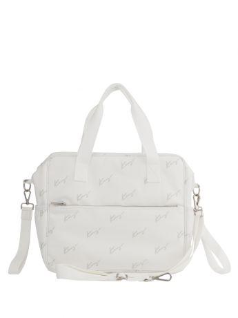 KENZO Kids White Changing Bag (34cm)