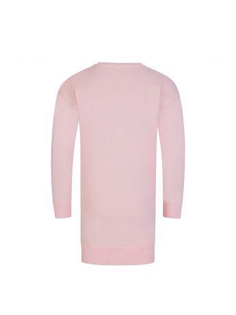 Moschino Kids Pink Toy Bear Sweater Dress
