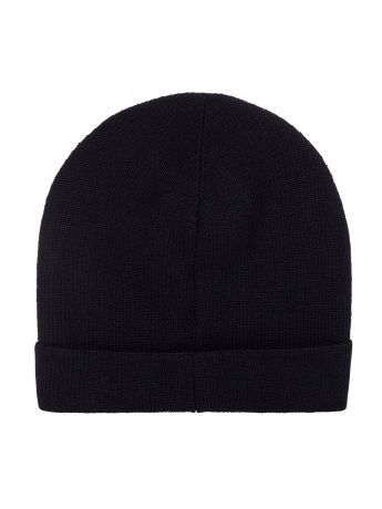 Moncler Enfant Dark Blue Logo Beanie Hat