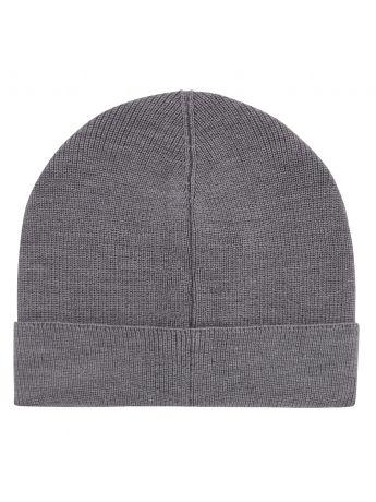 Moncler Enfant Grey Cuffed Beanie Hat