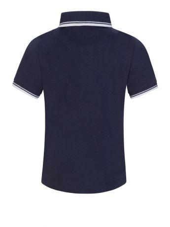 BOSS Kidswear Navy Tipped Collar Polo Shirt