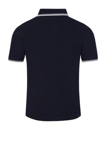 BOSS Kidswear Navy Tipped Short Sleeve Polo