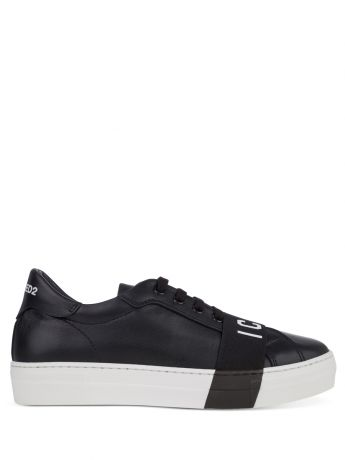 Dsquared2 Kids Black ICON Tape Trainers