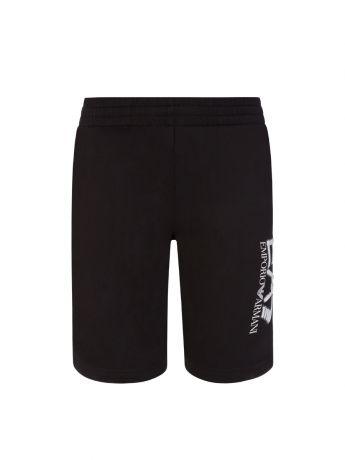 Emporio Armani EA7 Junior Black Camo Logo Shorts