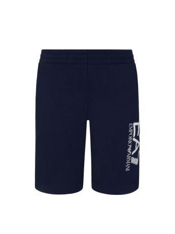 Emporio Armani EA7 Junior Navy Leg Logo Sweat Shorts