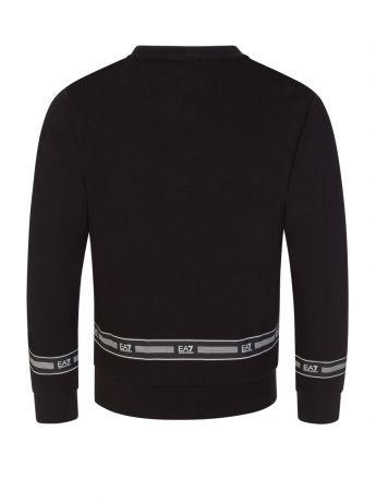 Emporio Armani EA7 Junior Black Tape Logo Sweatshirt