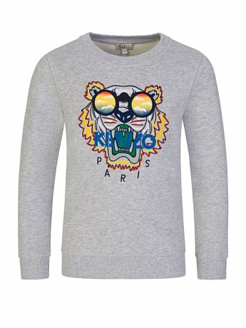 KENZO Kids Grey Sunglasses Tiger Sweatshirt