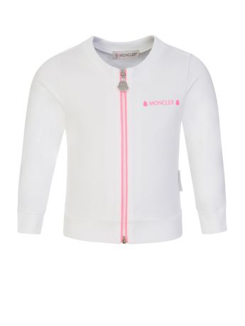 Moncler Enfant White Baby Zip-Through Tracksuit