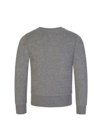 Moncler Enfant Grey Lettering Logo Sweatshirt