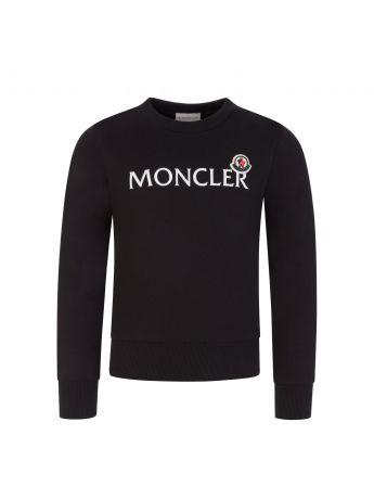 Moncler Enfant Black Lettering Logo Sweatshirt