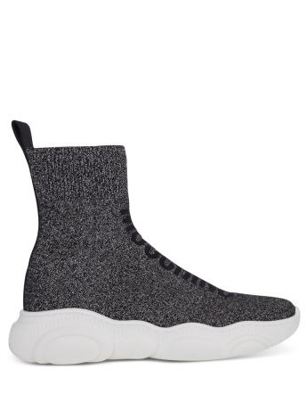 Moschino Black High-Top Sock Trainers
