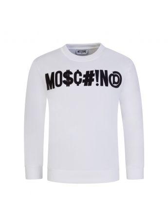 Moschino Kids White Logo Sweatshirt