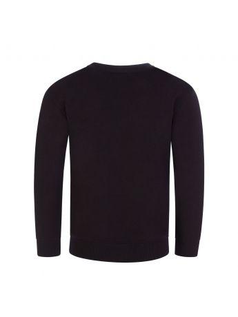 Moschino Kids Black Logo Sweatshirt