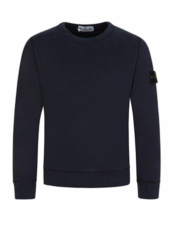 Stone Island Junior Navy Compass Sleeve Sweatshirt