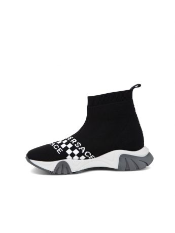 Versace Black Sock Trainers