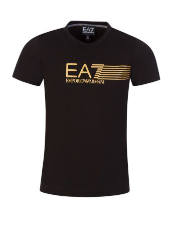 Emporio Armani EA7 Junior Black Logo Graphic T-Shirt