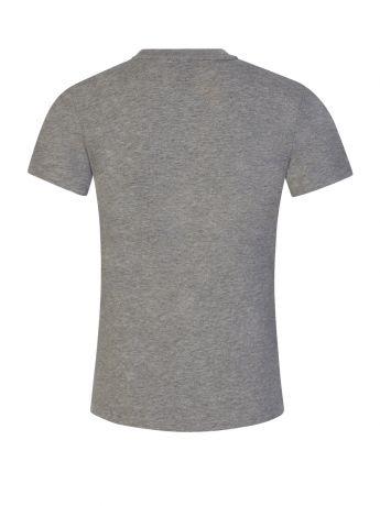 Emporio Armani EA7 Junior Grey Camo Logo T-Shirt