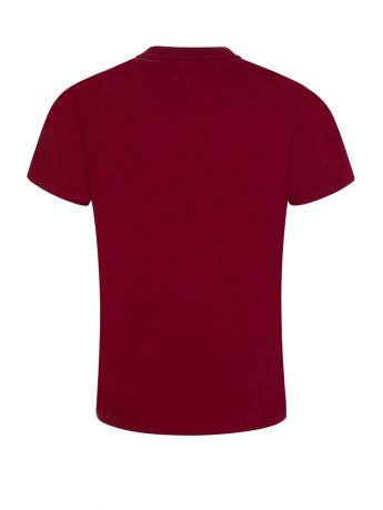Emporio Armani Junior Red Rubberised Logo T-Shirt