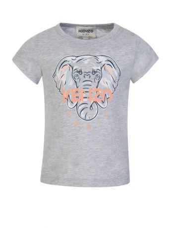 KENZO Kids Grey Elephant T-Shirt