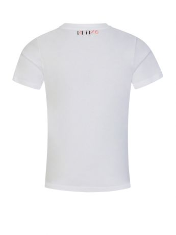 KENZO Kids White 'K' Logo Print T-Shirt