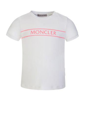 Moncler Enfant White/Pink Two-Piece Set