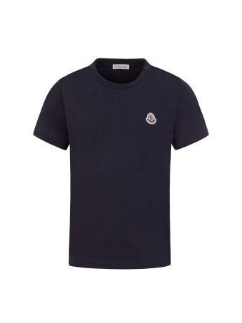 Moncler Enfant Navy Classic Logo T-Shirt