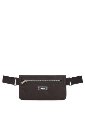 Dsquared2 Black Zip Nylon Waist Bag