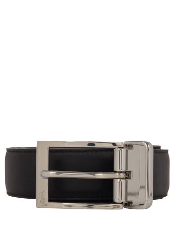 Polo Ralph Lauren Black/Brown Smooth Leather Buckle Belt