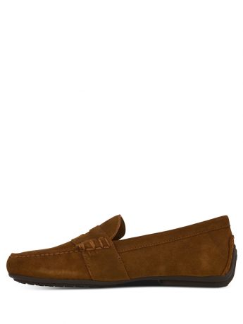Polo Ralph Lauren Brown Reynolds Suede Driver Loafers