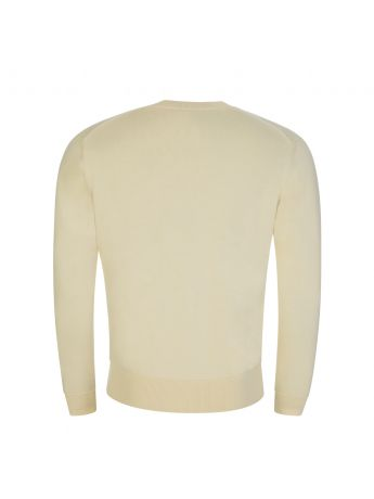 KENZO Cream Knitted Tiger Patch Jumper