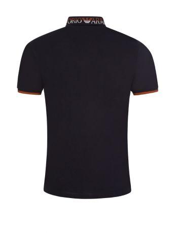 Emporio Armani Navy Tipped Logo Collar Polo Shirt