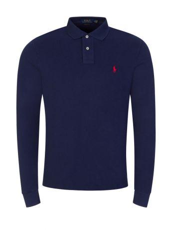 Polo Ralph Lauren Navy Custom Slim-Fit Long-Sleeve Polo Shirt