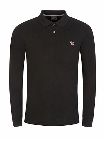 Paul Smith Black Long-Sleeve Zebra Polo Shirt