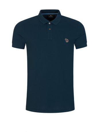 PS Paul Smith Petrol Blue Organic Cotton-Piqué Polo Shirt