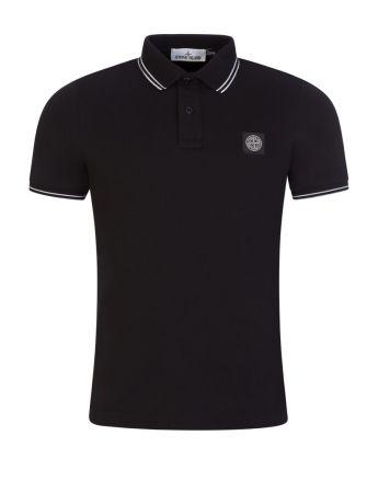 Stone Island Black Polo Shirt
