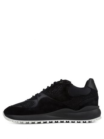 Android Homme Black Malibu Stingray Suede Trainers