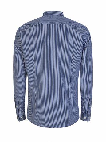 BOSS Menswear Blue/White Slim-Fit Jorris Grandad Shirt