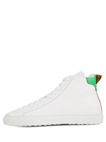 Dsquared2 White/Green San Diego High-Top Trainers