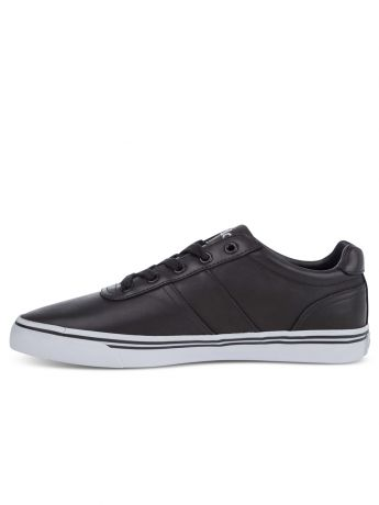 Polo Ralph Lauren Black Leather Hanford Trainers