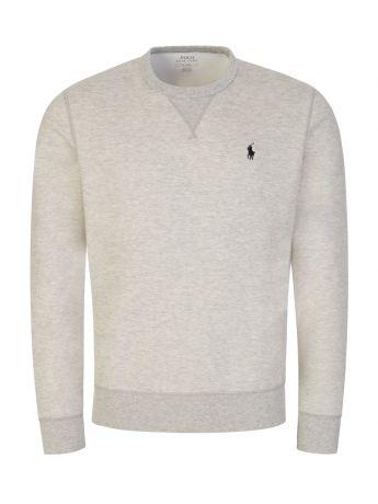 Polo Ralph Lauren Light Grey Double-Knit Sweatshirt