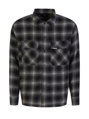 Represent Black Slightly Oversized Flannel Shirt