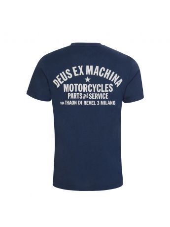Deus Ex Machina Navy Milano Address T-Shirt