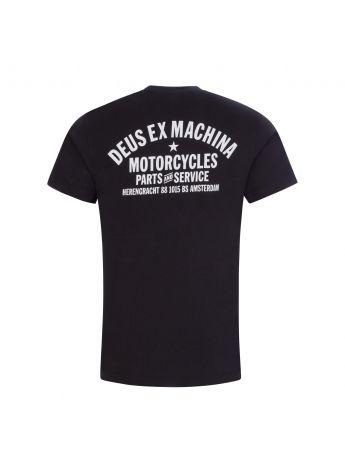 Deus Ex Machina Black Amsterdam Address T-Shirt