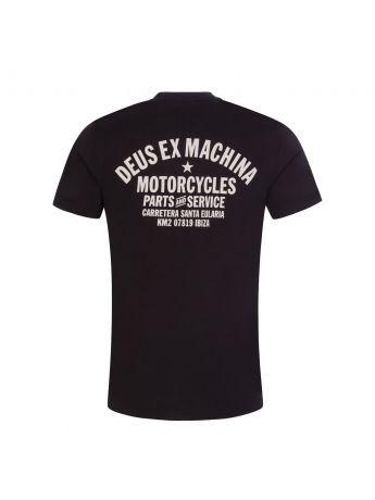 Deus Ex Machina Black Ibiza Address T-Shirt